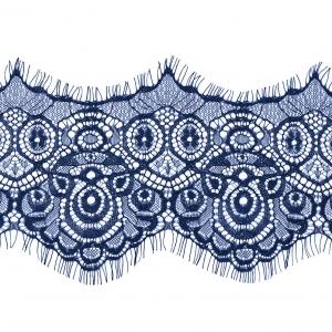 Кружево реснички 12см J056 синий упаковка 3 м