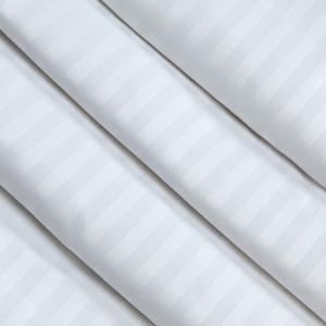 Ткань на отрез Страйп сатин полоса 3х3 см 280 см 135 гр 60х40 air jet