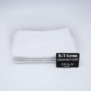 Весовой лоскут сатин отбеленный + Страйп от 0,4 до 1 м по 1 кг