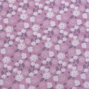 Ткань на отрез кулирка Цветы на розовом М-2054