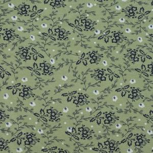 Ткань на отрез кулирка Цветы на зеленом 2099