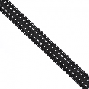 Резинка TBY бельевая 20 мм RB04322 цвет F322 черный 1 м