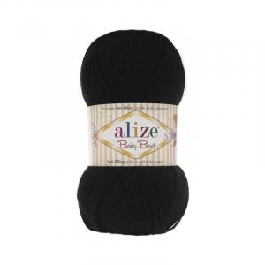 Пряжа ALIZE BABY BEST 60-черный (10% бамбук 90% акрил)