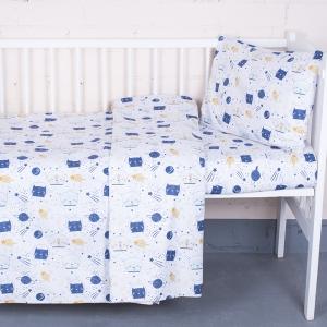 Постельное белье в детскую кроватку 7248/1 Космос