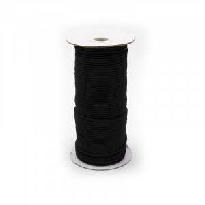 Резинка шляпная 2,5мм черная 1 метр