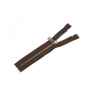 Молния металл №5ТТ никель н/р 18см D568 темно коричневый