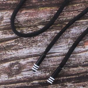 Шнур с декоративным пластик наконечником зебра 130см черный уп 2 шт