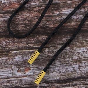 Шнурок 130см черный D580 / желтый D001 уп 2 шт