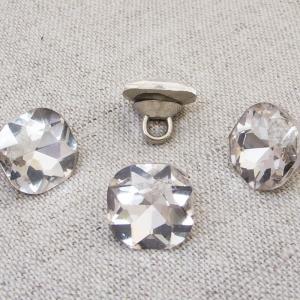 Пуговица ПР64 11мм серебряный камень уп 50 шт