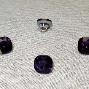 Пуговица ПР64 11мм фиолетовый камень уп 50 шт