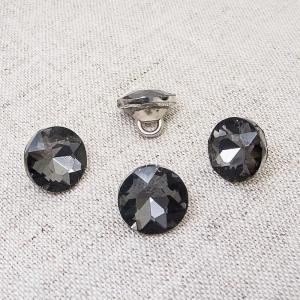 Пуговица ПР64 11мм черный камень уп 50 шт