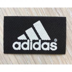 Нашивка Adidas черная 3*5см