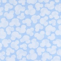 Ткань на отрез бязь плательная 150 см 1717/3 цвет голубой