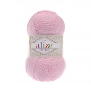 Пряжа ALIZE HAPPY BABY 185 розовый (35% полиамид 65% акрил)