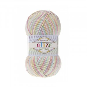 Пряжа ALIZE HAPPY BABY MULTI COLOR 52206 (35% полиамид 65% акрил)