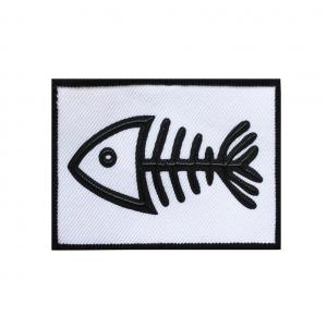 Нашивка Скелет рыбы 8*6см