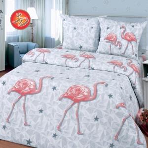 Постельное белье бязь Фламинго 1.5 сп