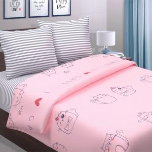 Поплин 220 см 771-1 Ля-Мурр розовый основа