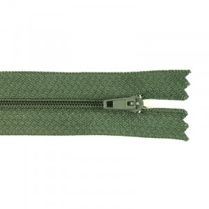Молния пласт юбочная №3 20 см цвет зеленый