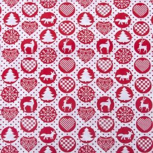 Отрез 150х150 Поплин 428/20 цвет красный