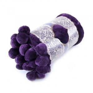 Покрывало бубон с рисунком 200/220 цвет фиолетовый