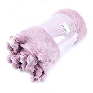 Покрывало бубон с рисунком 200/220 цвет светло-розовый