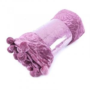 Покрывало бубон с рисунком 200/220 цвет розовый