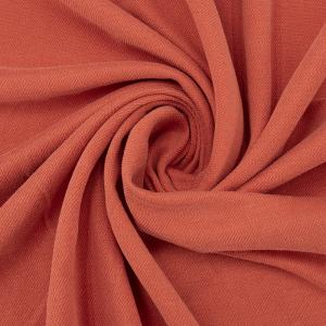 Ткань на отрез лакоста цвет морковный