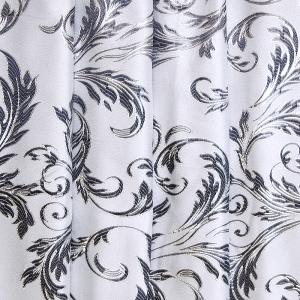 Портьерная ткань с люрексом 150 см на отрез Х7187 цвет серый вензель