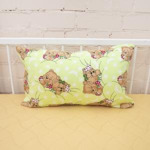 Наволочка бязь детская Спящие мишки цвет зеленый 40/60 см