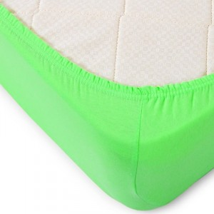 Простыня трикотажная на резинке Премиум цвет зеленый 60/120/12 см