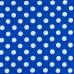 Ткань на отрез бязь плательная 150 см 1422/13 васильковый фон белый крупный горох