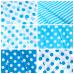 Ткань на отрез бязь плательная 150 см 1422/15 морская волна фон белый крупный горох