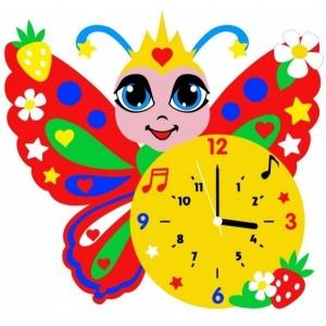 Набор для творчества из фоамирана Часы Бабочка арт.КК.CL017