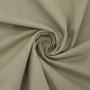 Ткань на отрез лен цвет темно-бежевый