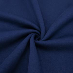 Ткань на отрез футер 3-х нитка компакт пенье начес цвет темный индиго