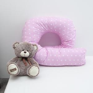 Наволочка бязь на подушку для беременных U-образная 1700/2 цвет розовый