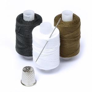 Набор нитки армированные Мастеровой 100ЛЛ цв.хаки, белый, черный уп 3шт 200м