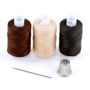 Набор нитки армированные Мастеровой 100ЛЛ цв.т.серый, коричневый, бежевый уп 3шт 200м