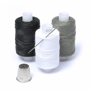 Набор нитки армированные Мастеровой 100ЛЛ цв.св.серый, белый, черный уп 3шт 200м