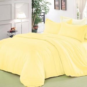 Полисатин гладкокрашеный 220 см цвет желтый