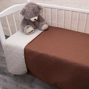 Покрывало детское ульрастеп двухстороннее 18-1029 коричневый 105/150