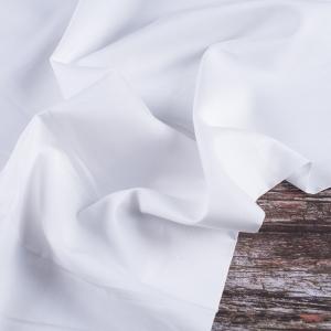 Ткань на отрез сатин гладкокрашеный 245 см 213KL-602 цвет снежный
