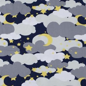 Ткань на отрез кулирка R4169-V1 Звездное небо цвет серый