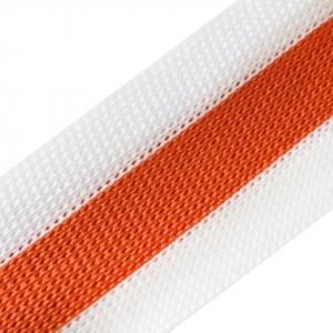 Лампасы №94 белый оранжевый 2,5см 1 метр