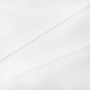 Ткань на отрез поплин гладкокрашеный 115 гр/м2 150 см цвет белый