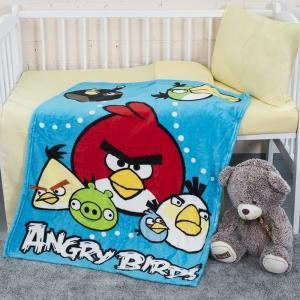 Плед детский велсофт Angry Birds  95/100