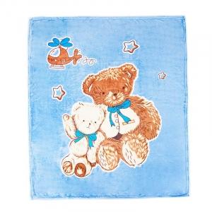Плед детский велсофт Медведи  95/100