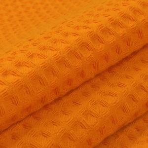 Вафельное полотно гладкокрашенное 150 см 240 гр/м2 7х7 мм премиум цвет 164 оранжевый