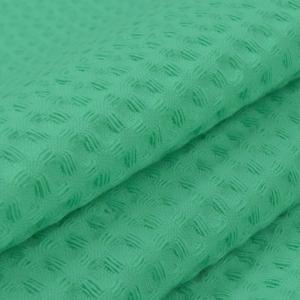 Вафельное полотно гладкокрашенное 150 см 240 гр/м2 7х7 мм премиум цвет 333 светло-зеленый